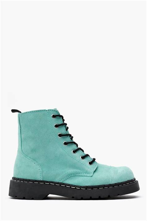 blue combat boots light blue combat boots tsaa heel