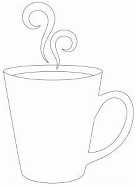 Coffee Cup Pattern Use The Printable Outline For Crafts Creating Stencils Scrapbooking And Coffee Mug Box Template