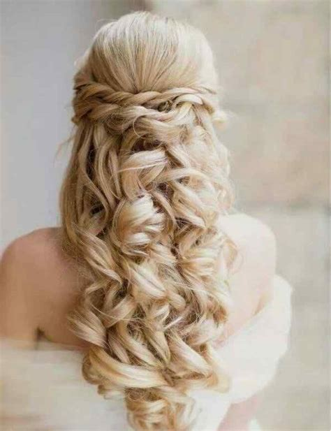 cute half up half down hairstyles for naturally curly hair cute prom hairstyles half up half down for long hair