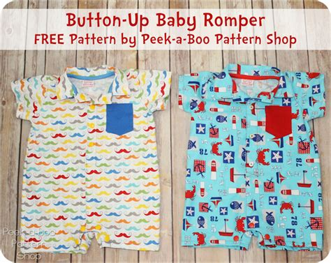free toddler romper sewing pattern button up baby romper free pattern peek a boo pages