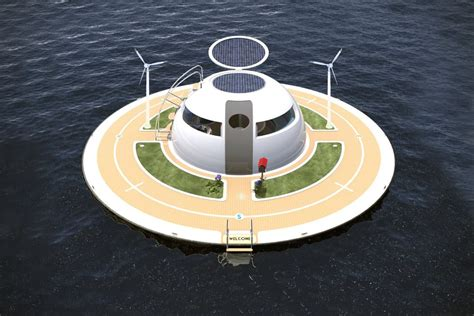 floating boat house ufo ufo floating home by jet capsule hiconsumption