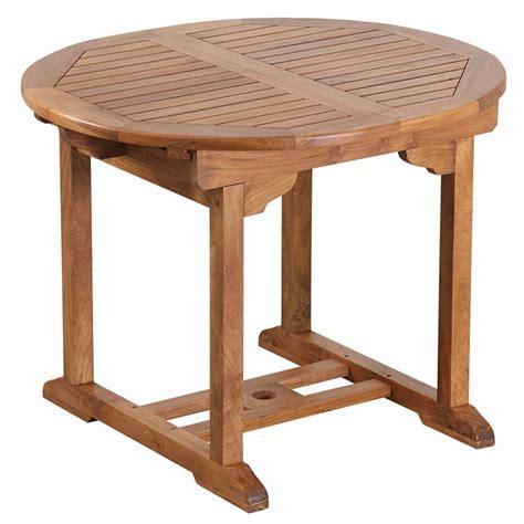 Table Ronde A Rallonge by Table De Jardin Ronde 224 Rallonge En Teck Huil 233 100 40