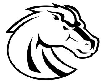 boise state logo pages coloring pages