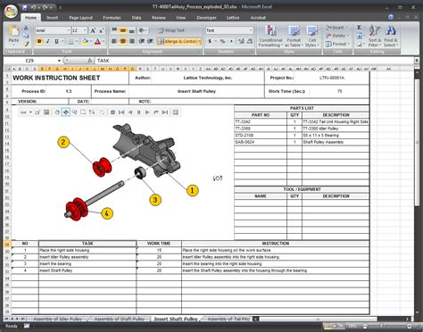 custom visual work instructions and graphic procedures