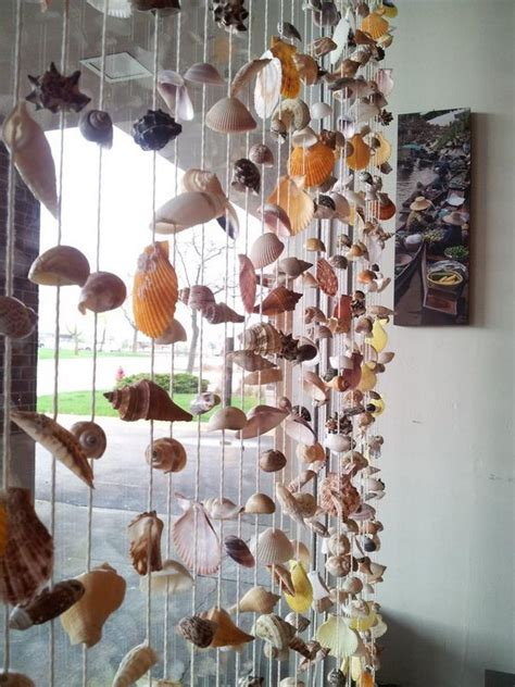 seashell curtain 20 cool seashell project ideas hative