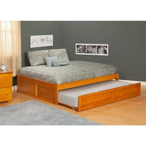 atlantic beds atlantic furniture concord bed with trundle bed in caramel