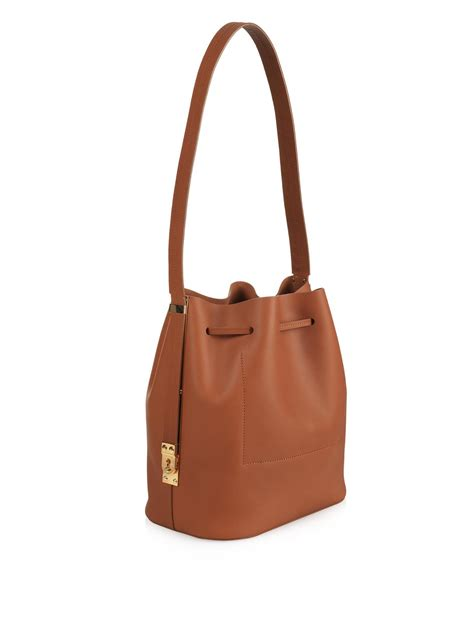 Hulme Gibson South Tote lyst hulme gibson leather bag in brown