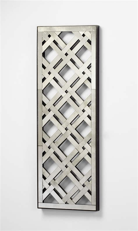 rectangular wall decor rectangular mirorred lattice wall decor by cyan design