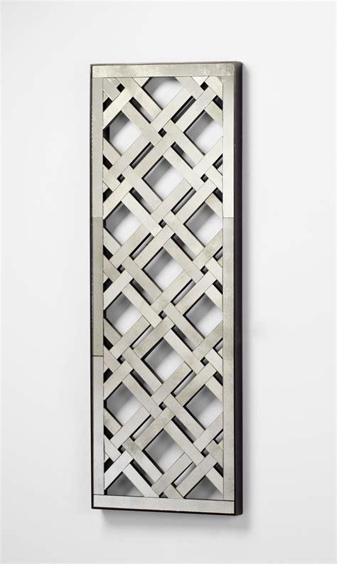 rectangular mirorred lattice wall decor by cyan design - Lattice Wall Decor
