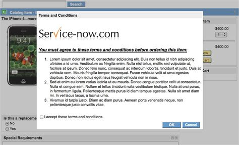 glidedialogwindow terms and conditions acceptance page