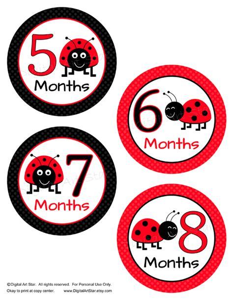 printable baby stickers digital art star printable party decor ladybug baby