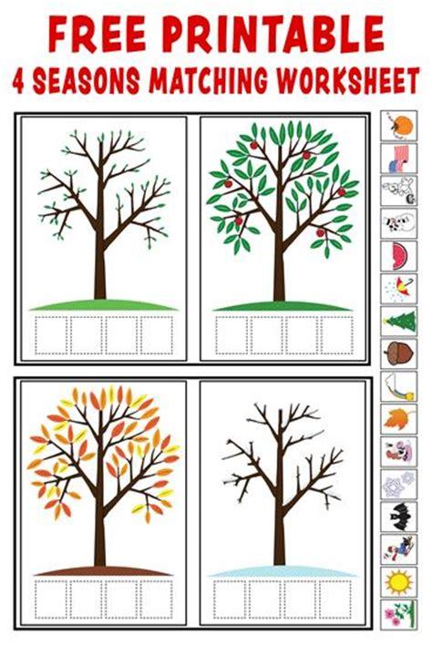 kindergarten activities on seasons quot season match up quot free printable 4 seasons matching