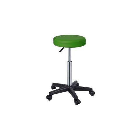 taburete con ruedas taburete con ruedas regulable en altura verde fisiomarket