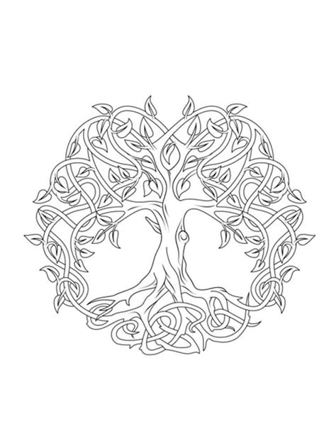 celtic knot coloring pages  adults  printable
