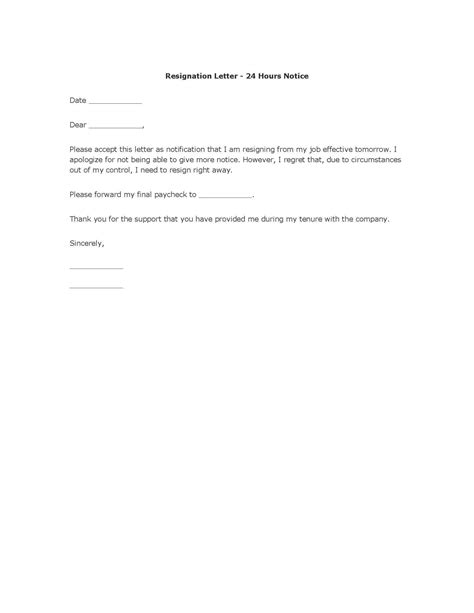 The Best Resignation Letters by Polite Resignation Letter Format