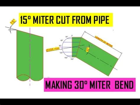tube layout angle definition how to cut a 15 degree angle on pipe 30 176 miter bend from