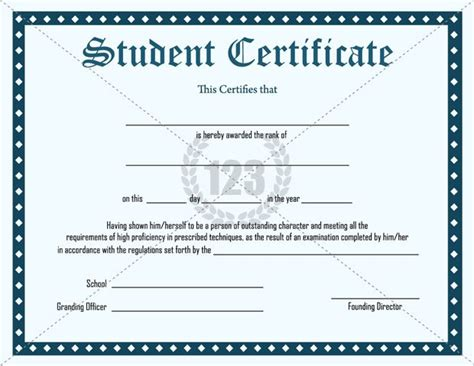 student certificate template certificate template