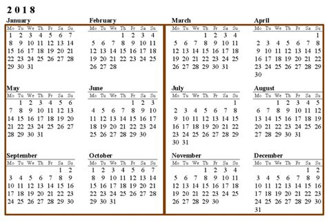 printable calendar by month 2018 calendar printable with monthly holidays