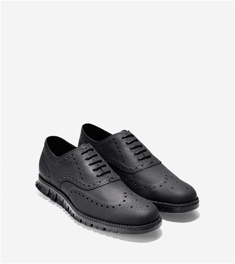 cole haan zer 248 grand wing leather oxford shoes in black lyst