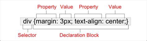 css tutorial little web hut css syntax