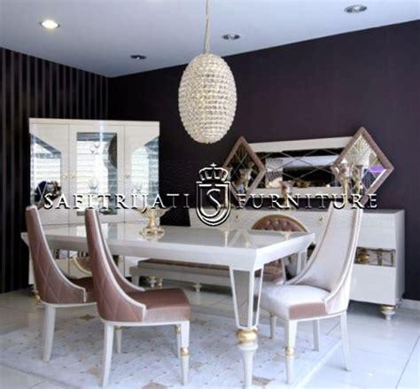 Taplak Meja Makan Model Oval Ukuran 6 8 Kursi meja makan minimalis mewah terbaru safitri jati furniture