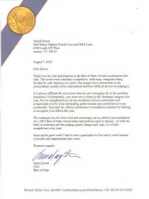 Award Nomination Thank You Letter Thank You Letter For Award Nomination Best Free Home Design Idea Inspiration