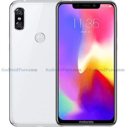 motorola embraces the notch: this is the motorola p30, not