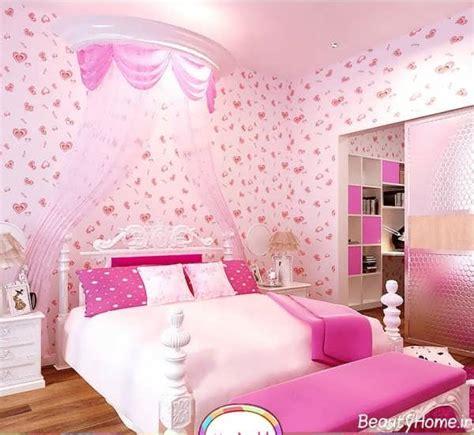 wallpaper for girl bedroom کاغذ دیواری اتاق خواب دخترانه با طرح های فانتزی و زیبا