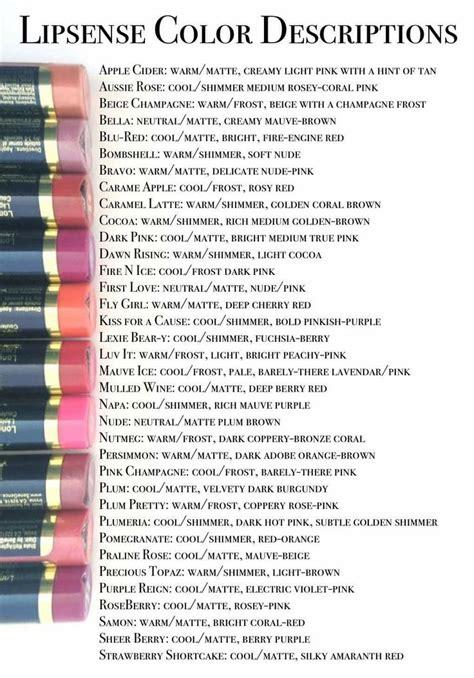 color descriptions best 25 lip sense ideas on lip sense colors