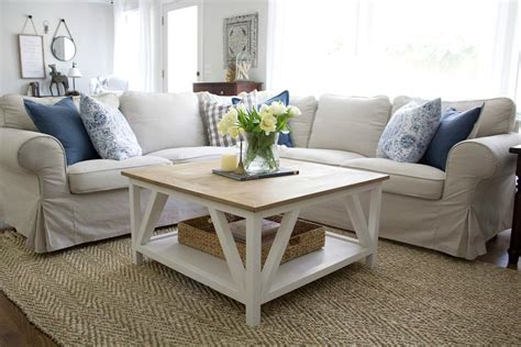 modern farmhouse square coffee table buildsomethingcom