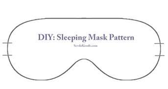 sleep mask template diy sleeping mask sevdakiratli