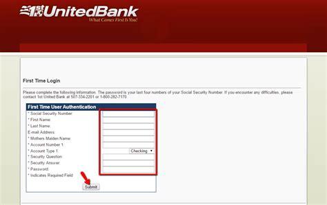 vc bank login 1st united bank banking login cc bank