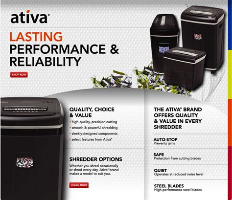 office depot coupons paper shredder ativa paper shredders at office depot