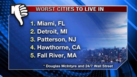 10 Worst Places To Live In America the 9 worst cities to live in the world aol news