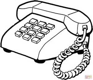 disegno di telefono fisso da colorare disegni da