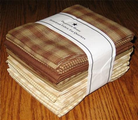 dunroven house dunroven house 12 brown beige primitive homespun fabric fat quarters