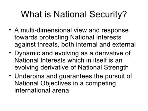 national security national interests implications