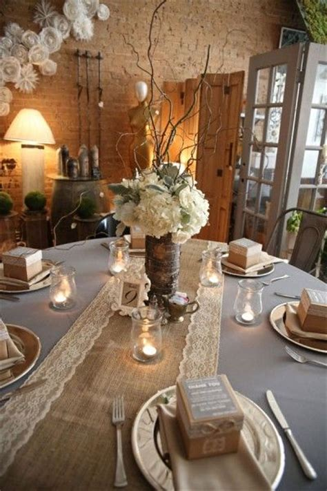 Burlap Wedding Table Decorations by 55 Chic Rustic Burlap And Lace Wedding Ideas Deer Pearl