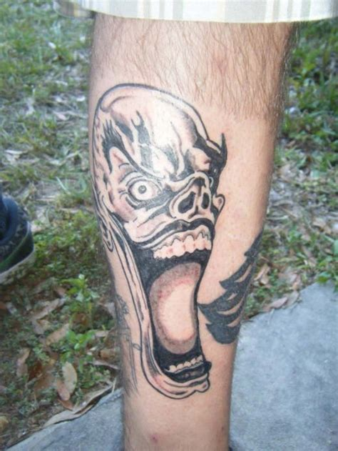 joker tattoo on leg joker tattoo on leg