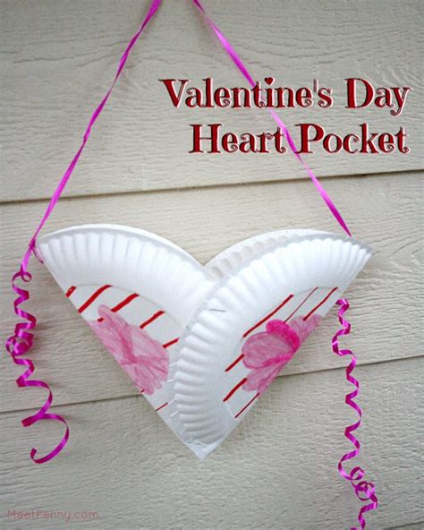 Valentines Day Paper Crafts - pocket s day craft for meet