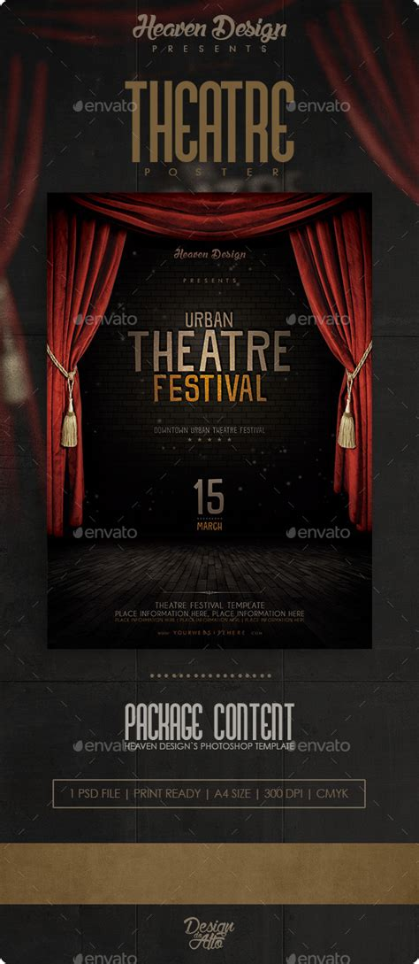 Theatre Flyer Print Templates Download Best Gfx Download Theatre Template