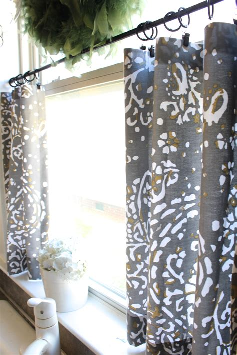 Sew Cafe Curtains No Sew Cafe Curtains Day 22 Simple Stylings