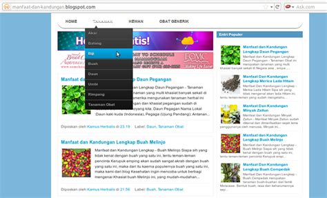 membuat menu dropdown di blogspot tanpa edit html cara cepat membuat menu drop down tanpa edit html cara
