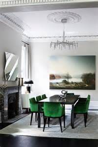 Emerald Green Dining Room The Emerald Green Chairs In This Otherwise Monochromatic