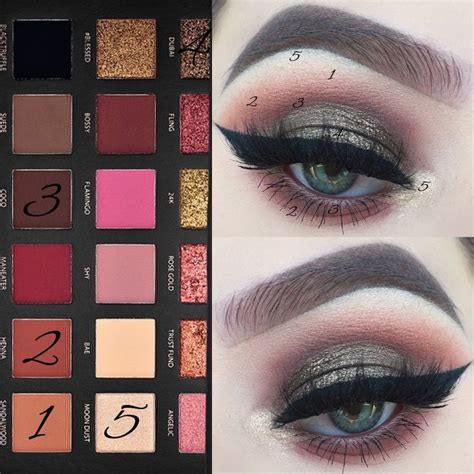 Eyeshadow Huda huda gold textured eyeshadow palette eye makeup looks