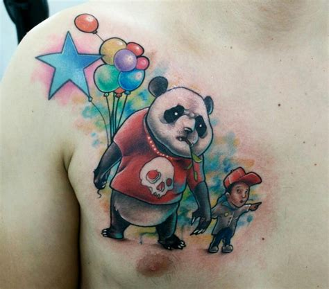 panda tattoo art new school tattoo panda tattoo pinterest my sister