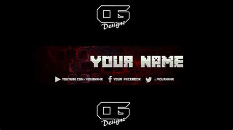 minecraft yt banner template on behance