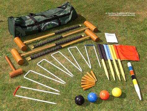 garten spiele garden longworth croquet set
