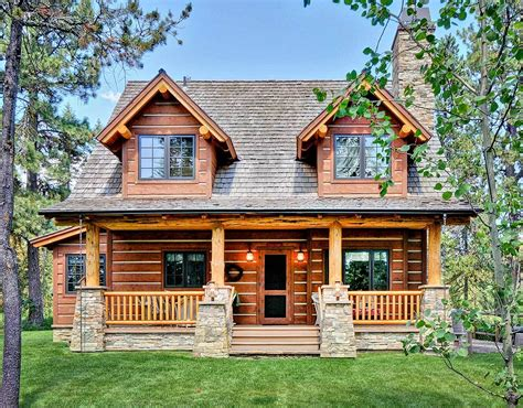 home cabin log home plans architectural designs