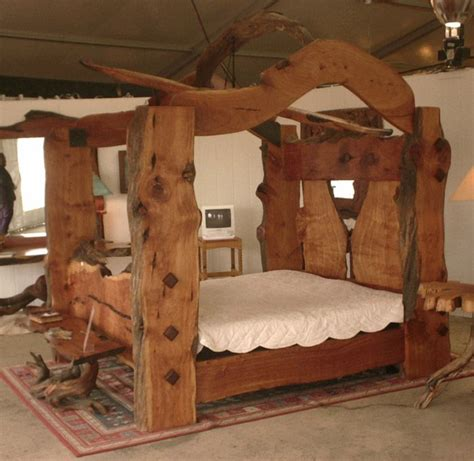 cedar log bunk bed by robert r norman and woodzy org canopy bed plans log home living article live edge